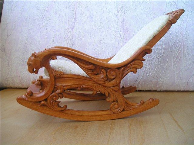 Резная мебель из дерева ручной работы
