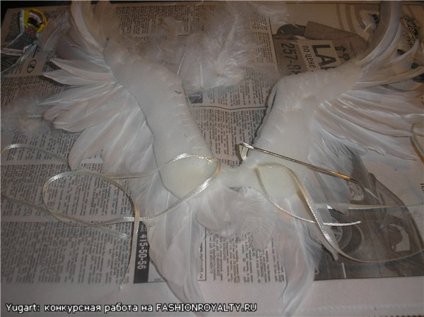 Сделать крылья ангела из перьев своими руками