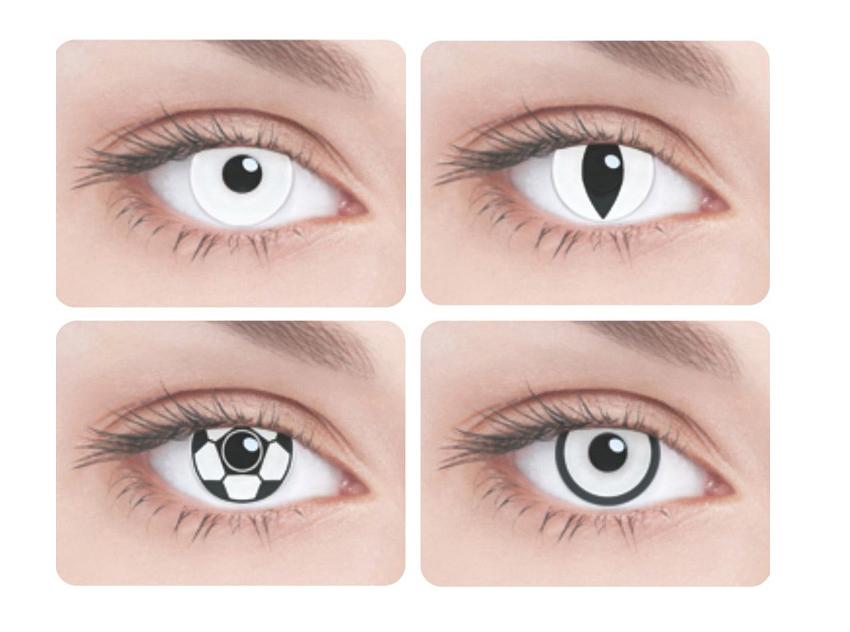 Как глаза сделать белыми