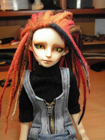 Как сделать дреды для куклы