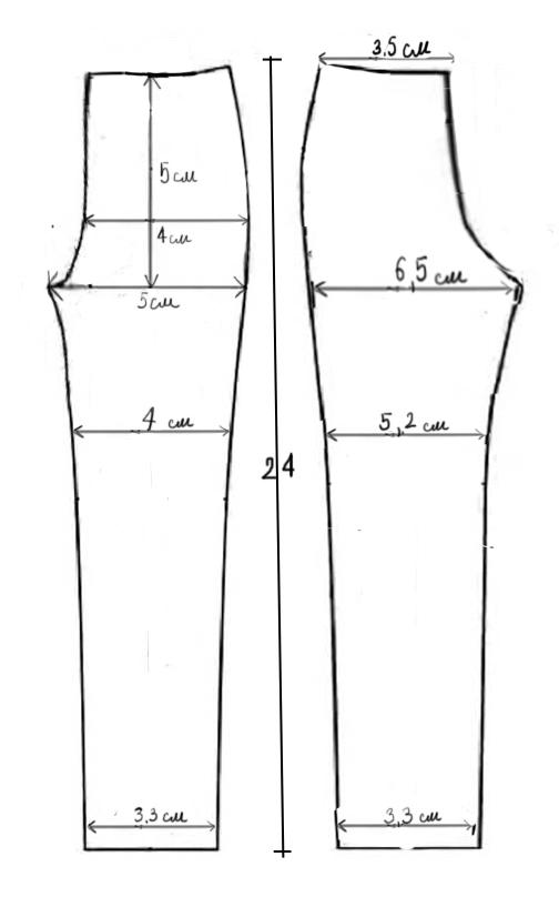 Выкройка стрейчевых брюк