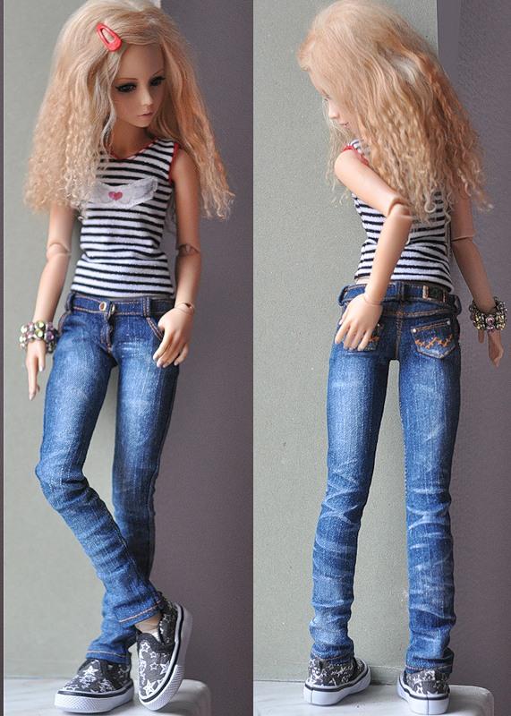 Как сделать джинсы для барби