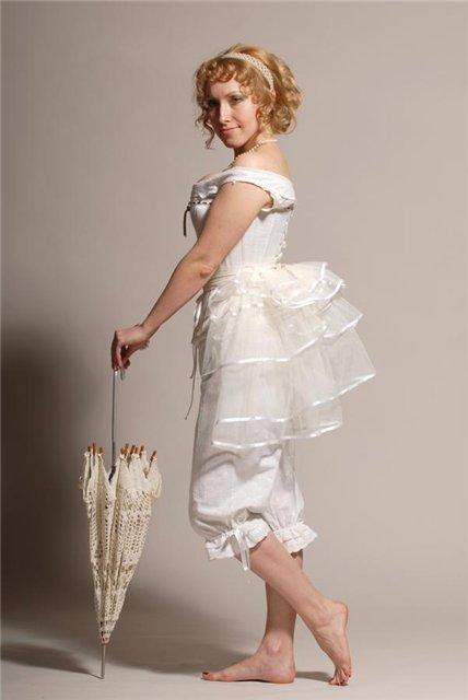 Как сшить платье с турнюром 285